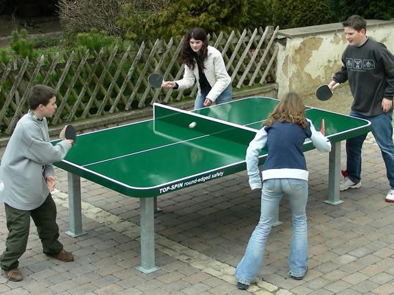 Ping Pong Tisch Top Spin mit runden Ecken aus Stahl extrem robust