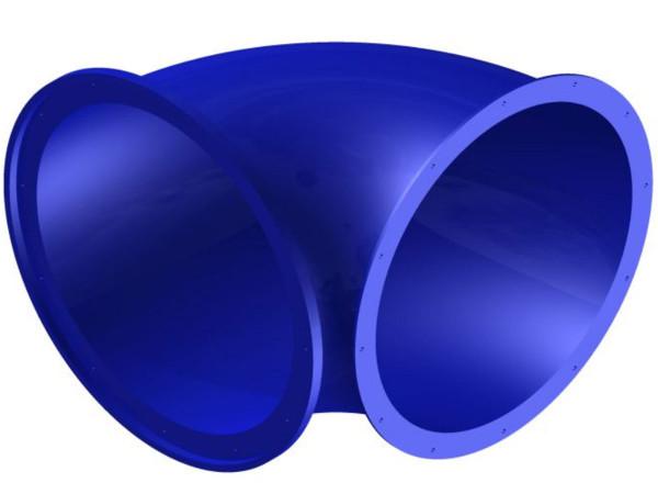Tunnelrutschbahn, Element Bogen 90°, ca. 120 cm, enger Bogen