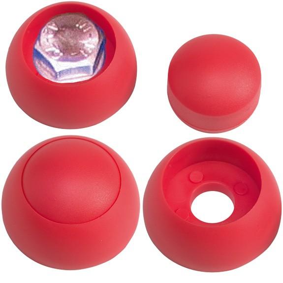 Schraubenabdeckung mit Kappe, rot für Schrauben M6