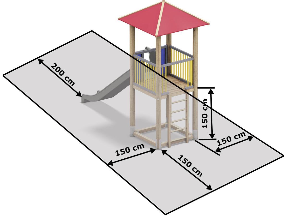 Fallraum und Fallschutz berechnen Abstand Spielgeräte
