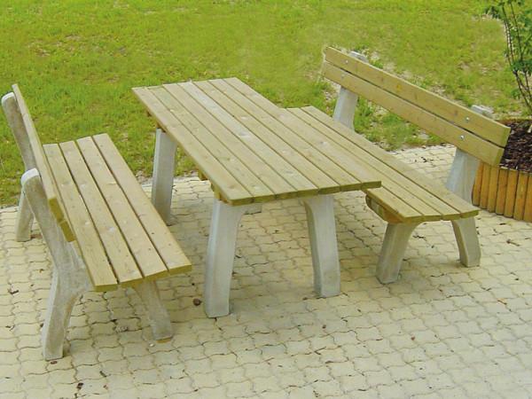 Bank Stadtpark mit Lehne, ohne Tisch