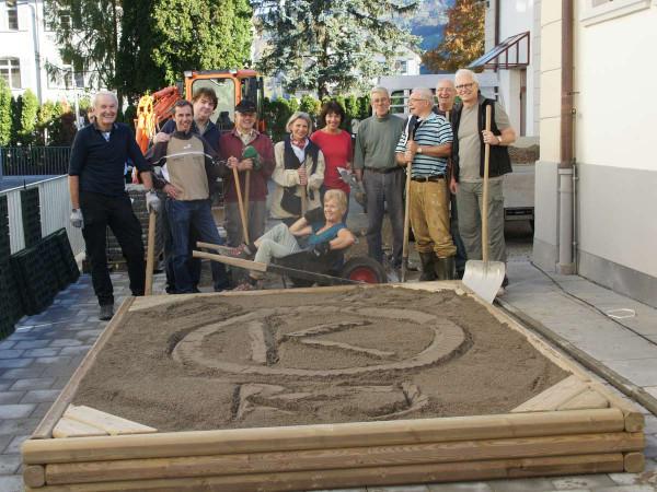 Sandkasten Rico 250 x 250 cm, Rundhölz