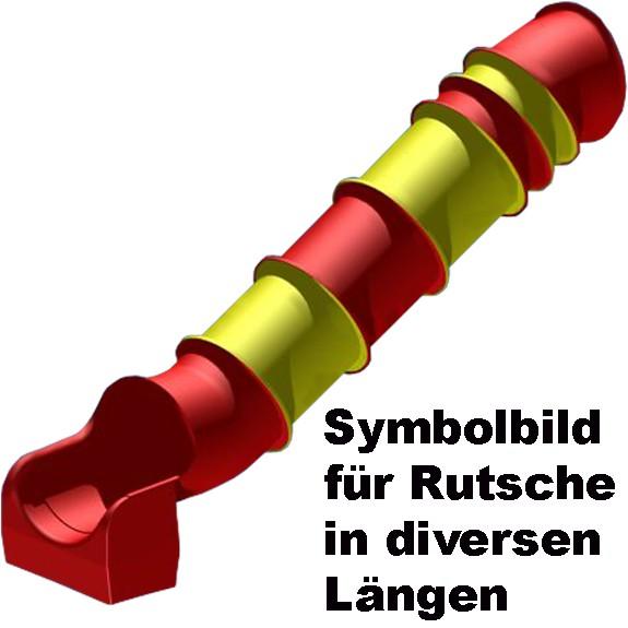 Tunnelrutschbahn Podesthöhe 180 cm, Länge 384 cm