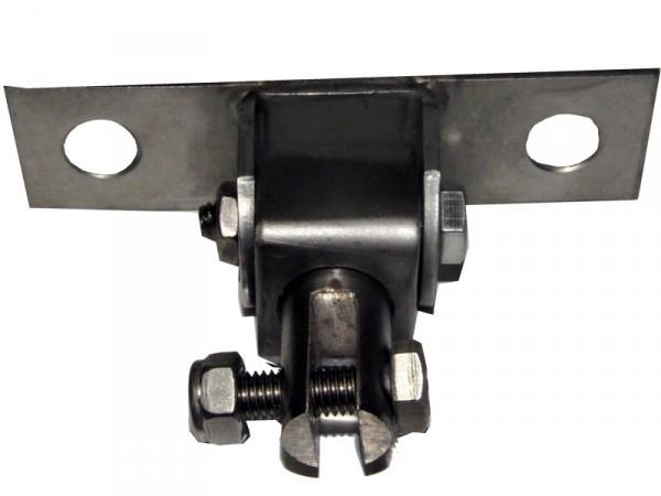 Schaukelaufhängung Edelstahl mit Drehwirbel für Kantholz oder Metallbalken
