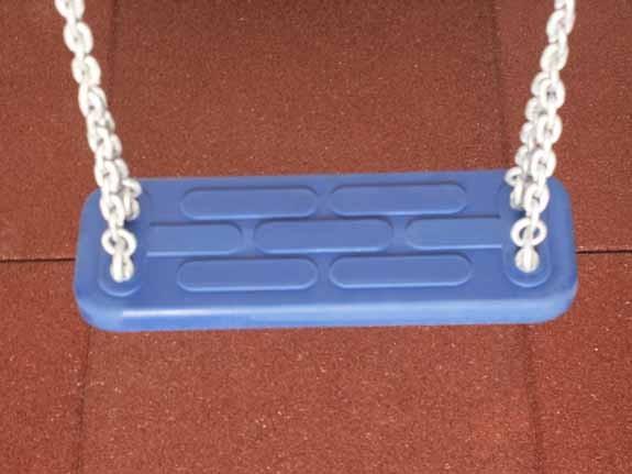Sicherheits-Schaukelsitz Standard, blau, Ketten galvanisiert