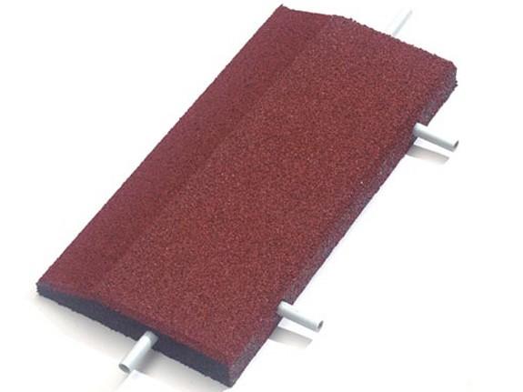 Keilrandelement gerade 50x25x4.5cm rot mit 2 Befestigungsstiften