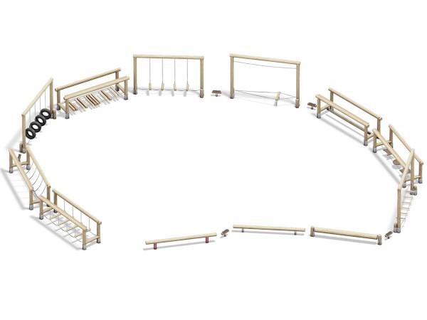Safari Parc Holz- Balanciergeräte Parcour individuell zusammenstellen