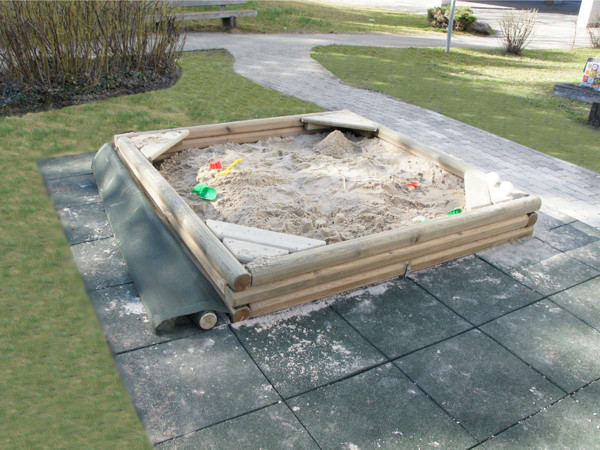 Sandkasten Rico 200 x 200 cm, Rundhölz