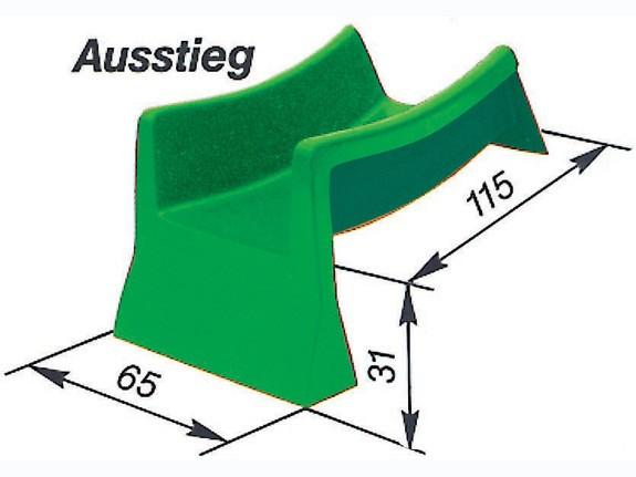 Element-Rutschbahn Ausstieg 115 cm