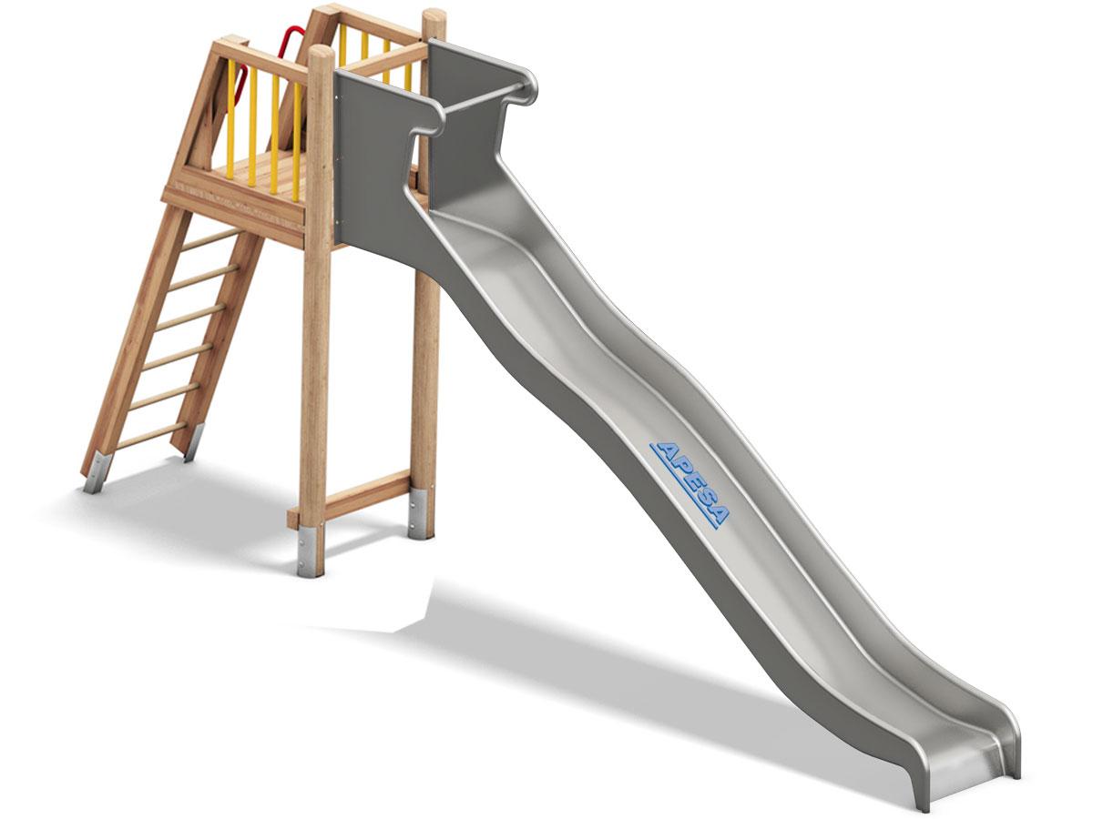Podest mit Leiter für Edelstahlrutschbahn