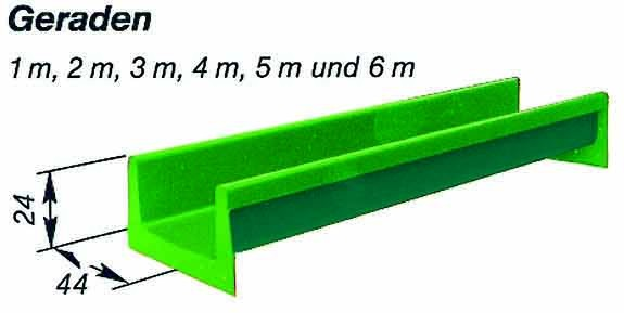 Element-Rutschbahn Gerade 300 cm
