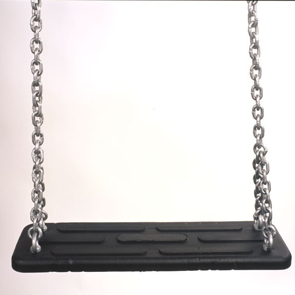 Sicherheits-Schaukelsitz Jumbo, schwarz, Ketten galvanisiert