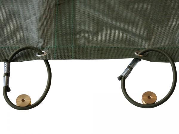 Kunststoffring für die Montage der Stretchleine oder Gummizuges