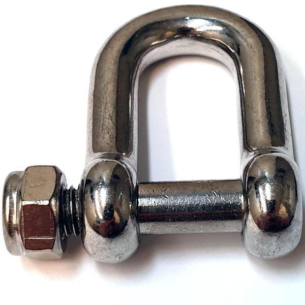 Verbindungs-Shäkel, Edelstahl, Mutter, 32x51x8mm