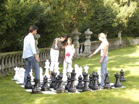 Garten-Schach Spielfiguren gross