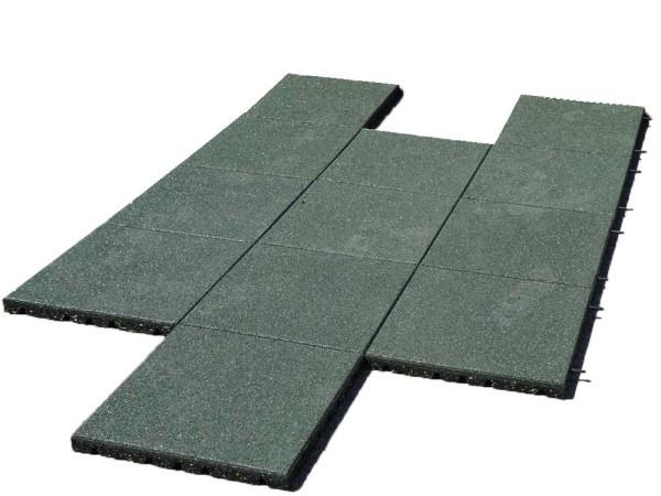 Fallschutzplatte 100x50x4.3 cm grün, bis 160cm Fallhöhe zugelassen