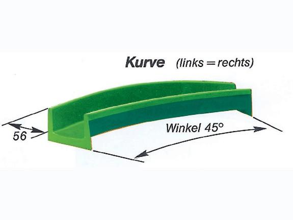 Element-Rutschbahn Kurve 45°, 225 cm