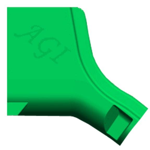 AGI Rutsche, breit, Element Einstieg, 85 cm